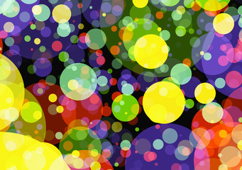 Holiday manycolored rounds bokeh backgrounds in Chaotic Arrangem