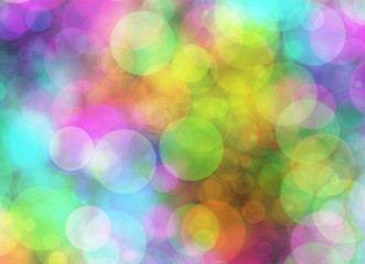 Holiday blur manycolored rounds bokeh backgrounds in Chaotic Arr