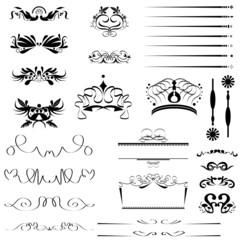 calligraphic design vector set