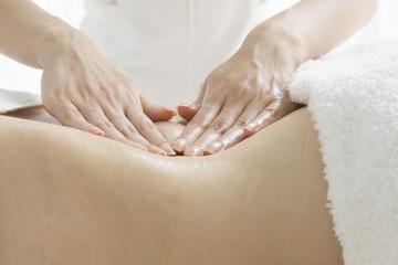 Slimming massage around the stomach