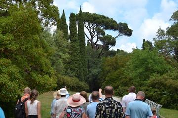 Туристы в парке