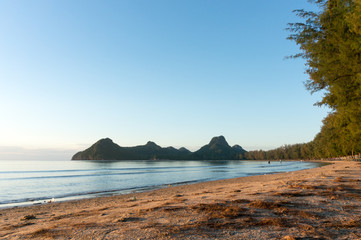 sunrise at Ao Manao beach, Prachuap Khiri Khan Province.