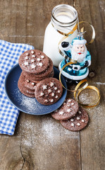 Chocolate Christmas cookies for Santa