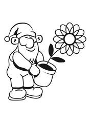 Wichtel Mütze Blumentopf
