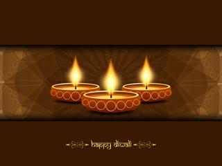 Beautiful background design for Diwali festival