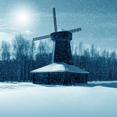 Winter nature, mill
