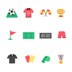 Flat Football icons