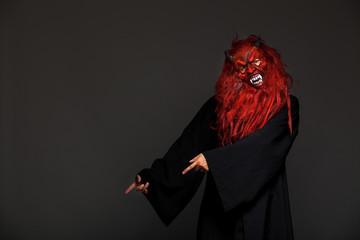 halloween monster on dark background