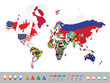 World map with flag