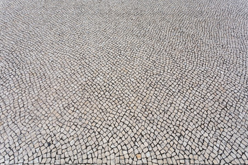 Background of typical portuguese walkway pavement
