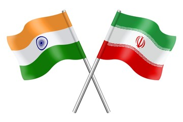 Flags: India and Iran