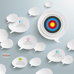 White Speech Bubbles Target