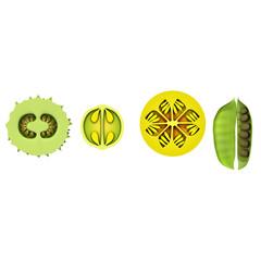 Fruit showing seeds