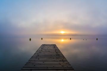 """Morgendämmerung am """"Schwarzer See"""", Mecklenburgische Seenplatte"""