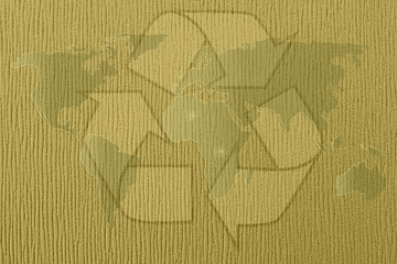 Abstract recycle world map