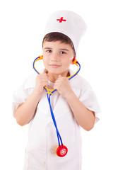 Boy playing doctor
