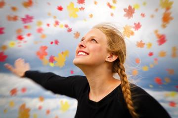 Glückliche Herbstzeit