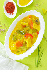 Curry Gemüse mit Tofu
