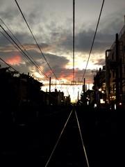 黄昏の線路