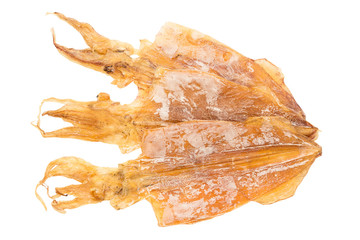 Dried Squid isolated on white background