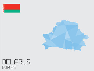 Set of Infographic Elements for the Country of Belarus