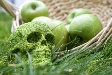 Glamor skull at Halloween.