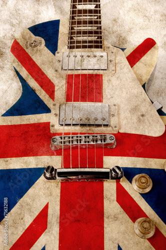 grunge brit pop guitar - 71632188