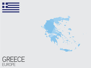 Set of Infographic Elements for the Country of Greece