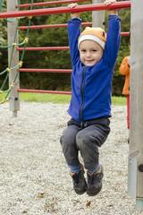 Child at park playground