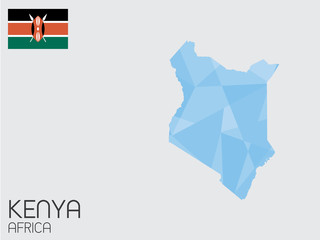 Set of Infographic Elements for the Country of Kenya