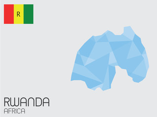 Set of Infographic Elements for the Country of Rwanda
