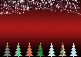 Weihnachtslandschaft Rot Klar