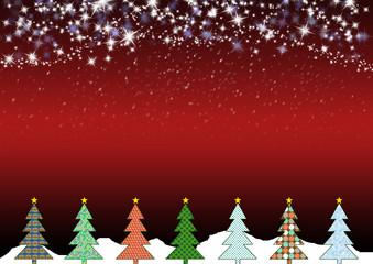 Weihnachtslandschaft Rot