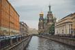 Leinwanddruck Bild - The Resurrection temple on Griboedov Canal Embankment 1141.