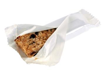 Barre de céréales dans son sachet