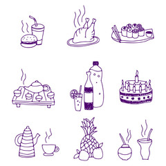 icons of food and drinks