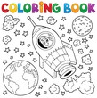 Coloring book space theme 1 - 71634135