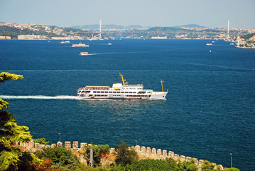 A passenger boat in Istanbul