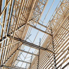 Structural steel framework
