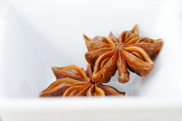 Star anise flavored mulled wine for cooking.