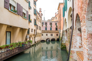 River canal with buildings in Treviso
