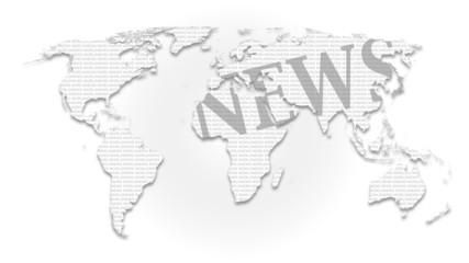 Landkarte *** Weltkarte NEWS