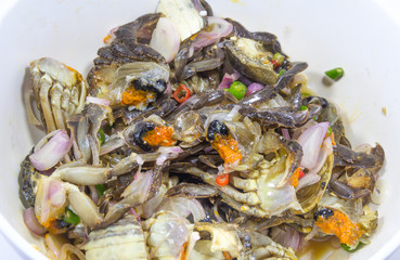 Spicy GREEN TIDAL CRAB salad