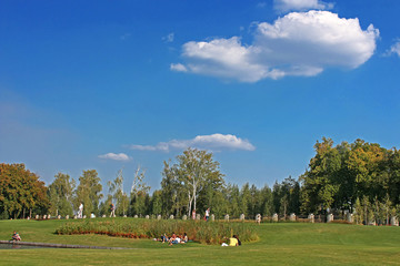 Park in Mezhyhirya - former residence of Yanukovich, Ukraine