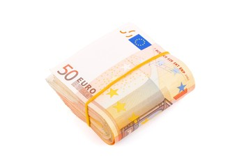 Bundle of European currency