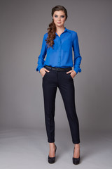 Beautiful business woman clothes for meetings and walks