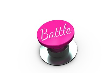 Pink button for breast cancer awareness
