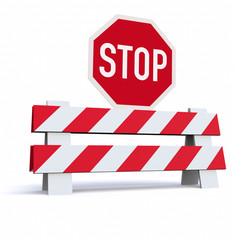 3D road barrier