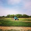 canvas print picture - трактор