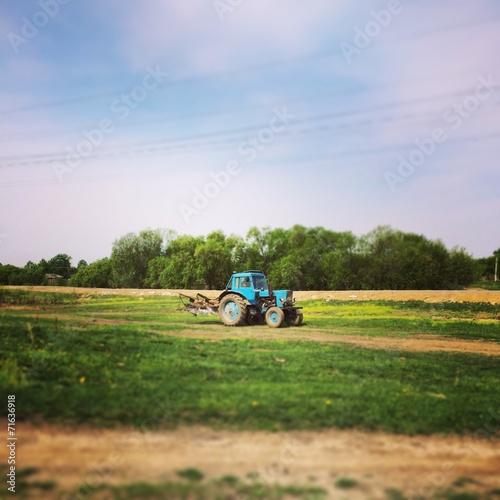 canvas print picture трактор